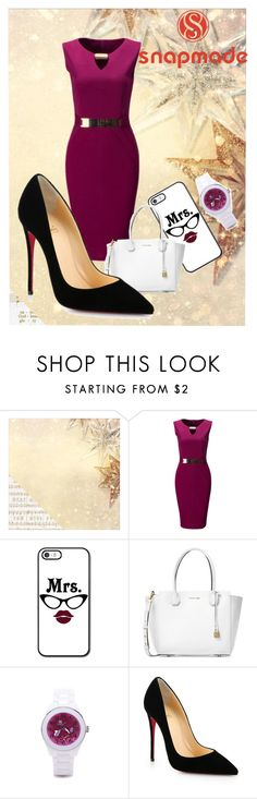 """""""Snapmade#9"""" by slavka-jovic ❤ liked on Polyvore featuring Kaisercraft, WithChic, Michael Kors and Christian Louboutin"""