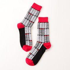 39-44 Socks Brand Women Men's Novelty Socks Combed Cotton Christmas Gift Chausettes homme Animal Puzzle Design Funny Socks