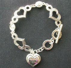 $2.50 Heart Bracelet (32015-573) hearts, One Life One Love #Chain