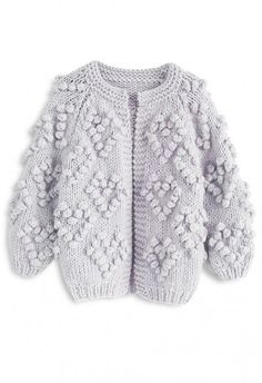 Lather yourself in lavender this season with this cozy cardigan. It's the perfect way to serve up unicorn vibes and maintain sophistication. - Open front - Yarn balls trimmed heart shape pattern - Hand-knit fabric finished - Not lined - 100% Acrylic - Hand wash/Dry clean Size(cm)Length Bust Shoulder Sleeves XS 54 Free 42 52 S/M 55 Free 43 53 L/XL 56 Free 45 55 XXL/XXXL ...
