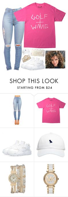 """` Curly Heaad ."" by maliyamelissa ❤ liked on Polyvore featuring NIKE, October's Very Own, maurices and Michael Kors"
