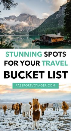Unique and beautiful destinations to add to your travel bucket list - some you've never even heard of! If you're looking for some wanderlust inspiration, check out this stunning collection of 37 of the most awe-inspiring locations all over the world and s Solo Travel, Travel Usa, Travel Europe, Egypt Travel, Paris Travel, Bucket List Destinations, Travel Destinations, Travel Bucket Lists, Holiday Destinations