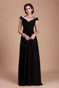 Fantastic A-Line Off-the-Shoulder Floor-Length Roxy's Bridesmaid Dress.