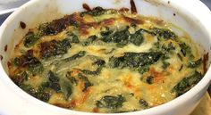 Low carb side- Cheesy Spinach with Caramelized onions