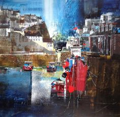 View of Mevagissey by Nagib Karsan (was born in Tanzania in 1955)