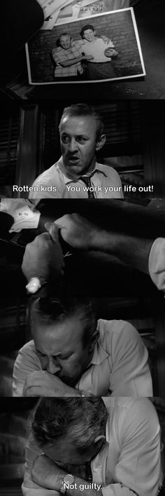 Lee J. Cobb in 12 Angry Men. proof that a great movie can be shot and maintained in a single setting....love this movie