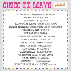 Cinco de Mayo playlist.