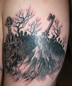 1000 images about tattoo ideas on pinterest graveyard tattoo halloween tattoo and graveyards. Black Bedroom Furniture Sets. Home Design Ideas