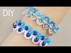 I REALLY WANT TO MAKE THIS!!!!  DIY Macrame Bracelets - Waves with Beads