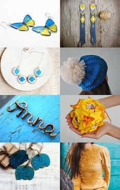 Ukrainian colors by Natali on Etsy--Pinned with TreasuryPin.com
