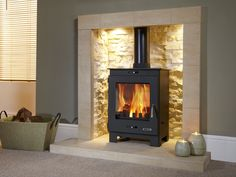4.9KW Flavel Arundel Multifuel Stove | Buy Modern Multi Fuel Stoves Online | UK Stoves