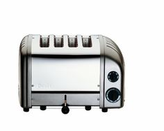 Dualit has upgraded its iconic toaster with a setting for buns and bagels and a defrost setting for frozen bread. What hasn't changed is the superlative quality and design that have made Dualit famous: each toaster is still hand-assembled in… Green Toaster, Pink Toaster, White Toaster, Small Appliances, Kitchen Appliances, Dualit Toaster, Stainless Steel Toaster, Drip Tray, Bagels