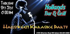 Holland's Halloween Party Oct 31st 8PM - Entertainment - Karaoke - Salem