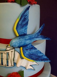 Bird Detail - Ed Hardy Cake Ed Hardy Tattoos, Sweet Treats, Ink, Cakes, Detail, Painting, Sweets, Cake Makers, Candy