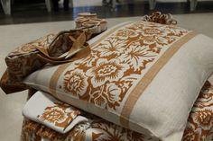 Lavorati in tessuto di canapa stampati -  Antica Fiera della Canapa #Gambettola 22 Novembre 2014