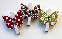 pegs easy craft ideas. pop a magnet on the back wella!