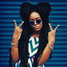 Beautiful woman with dreads