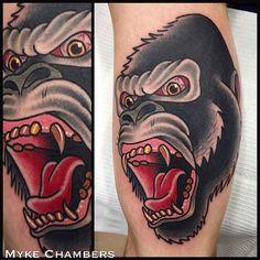 Gorilla Tattoo Images & Designs