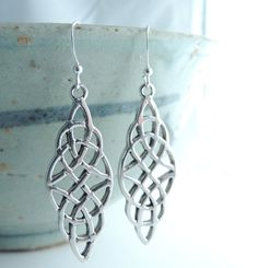 Sterling Silver Jewelry Celtic Jewelry Silver by KissingRavens, $48.00