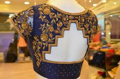 101 Stunning Saree Blouse Back Neck Designs Blouse Designs High Neck, Pattu Saree Blouse Designs, Simple Blouse Designs, Saree Blouse Patterns, Designer Blouse Patterns, Bridal Blouse Designs, Blouse Models, Lesage, Embroidery Suits