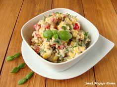 Smak Mojego Domu: Sałatka z brązowym ryżem, kukurydzą i papryką