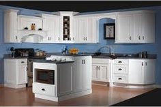 Image result for ideas for a blue and white kitchen