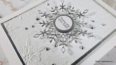 Snowflake Cards, Snowflakes, Diy Christmas Cards, Shaker Cards, Simon Says Stamp, Close Up Photos, Card Kit, Embossing Folder, Clear Stamps