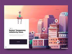 Yomes Intro - Renters Transparency Initiative by Claudio Guglieri Web Design Tips, Web Design Trends, Flat Design, Ui Design Inspiration, Ui Web, Mobile App Design, Layout Template, Branding, Design Reference