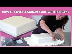 How to Cover a square shaped cake with fondant « Cake Decorating