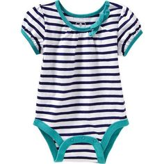 Old Navy Printed Bodysuits For Baby - Navy stripe (28 BRL) ❤ liked on Polyvore featuring baby and kids