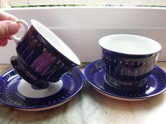 Två tekoppar Valencia av Ulla Procope från Arab.. Valencia, Mugs, Tableware, Dinnerware, Tumblers, Tablewares, Mug, Dishes, Place Settings