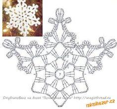 háčkované sněhové VLOČKY 5 vánoční dekorace aplikace motivy