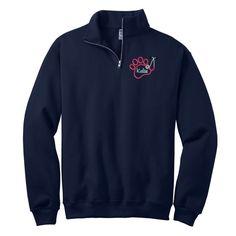 Paw Stethoscope Monogrammed Quarter Zip Pullover. Vet Tech Monogram Quarter Zip Sweatshirt. Cadet Collar Sweatshirt. 995MR  Monogrammed Quarter