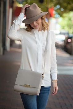 Match your hat to your purse for instant style.