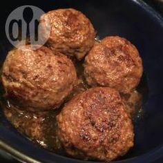 Dutch meatballs recipe - All recipes UK Meatball Recipes, Beef Recipes, Cooking Recipes, Cooking Pasta, Barbecue Recipes, Recipies, Netherlands Food, Dutch Recipes, Norwegian Recipes