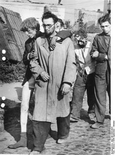 Warsaw Uprising, October 1944: Exhausted Polish fighters emerge from their hiding places after the battle has been lost. Most of them would take the road to concentration camps. Although the exact number of casualties remains unknown, it is estimated that about 16,000 members of the Polish resistance were killed and about 6,000 badly wounded. In addition, between 150,000 and 200,000 Polish civilians died, mostly from mass executions.