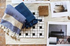 #Regram from @sprucestcommons Love seeing our textiles included in a mood board for their next project. I spy a @_bicyclette bench in there too!! 🤗