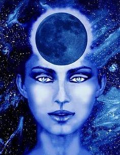 *COBALS BLUE ~ New Moon Goddess by Montserrat