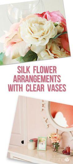 silk flower pinterest image