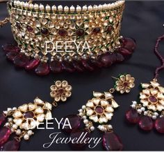 Kundan choker in green meena. It is handmade and hand painted. Beautiful piece. Very Mughal. Wear the full set as a bridal set or necklace on its own at a function Contact Deeya Jewellery by calling, Whatsapp or viber to purchase or enquire on 00447545228167. We deliver worldwide. #deeyajewellery
