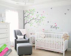 Wall decal Corner Tree Wall Decal with Butterflies door StudioQuee