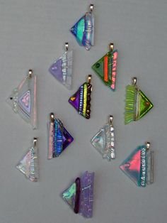 Dichroic Fused Glass Angel Fish by Suncatchercreations on Etsy
