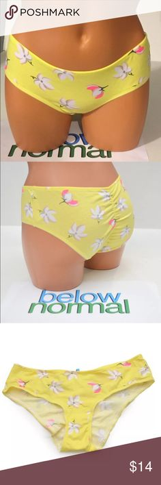 Victoria's Secret Yellow Low Rise Hiphugger NEW WITH TAGS Sexy Victoria's Secret Low Rise HipHugger Material: Cotton Blend Color: Yellow w/ pink and white floral print Size: M - Medium Victoria's Secret Intimates & Sleepwear Panties