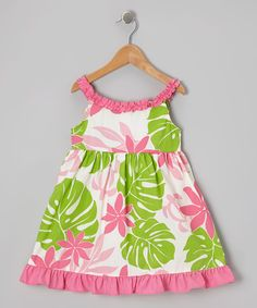 Take a look at this Pink Breadfruit Ruffle Swing Dress - Girls on zulily today!