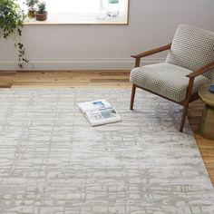 Cascade Wool Rug, 8'x10', Platinum / Cost: $615 on sale / Availability: Around 6/27