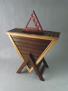 here is wood working triangle table for my friends in illuminati :P