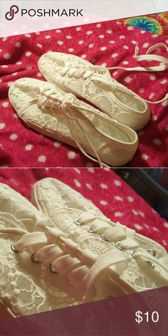 ee8fb462994fbe White Lace Shoes White Lace by Joe Boxer... never worn size 8 1 2 or 9 MAKE  OFFER PLZ joe boxer Shoes Sneakers