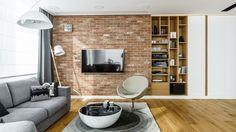 Pokój dzienny połączony z przestronną kuchnią - Architektura, wnętrza, technologia, design - HomeSquare