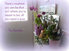 My front hall of my home. Love the Beatles!