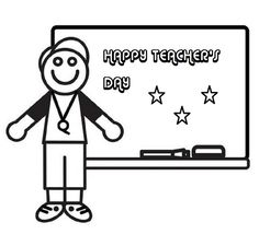 national teachers day coloring pages  Education  Pinterest